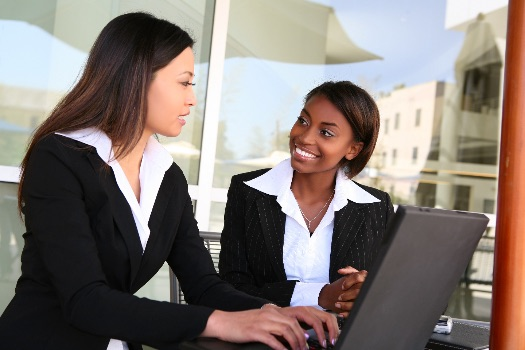 business women on a laptop computer